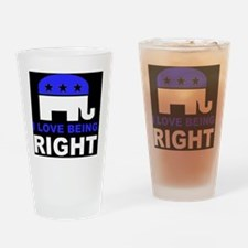 Romney Always right d Drinking Glass