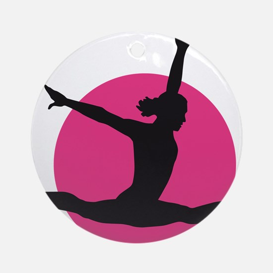 gymnastics girl Round Ornament