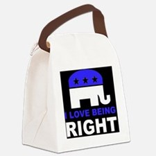 Romney Always right d Canvas Lunch Bag
