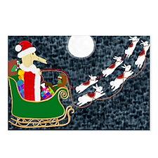 Santa Dachshund Postcards (Package of 8)