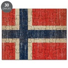 Vintage Norway Flag Puzzle