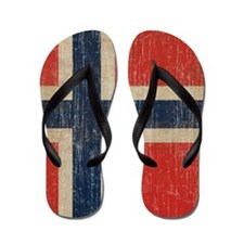Vintage Norway Flag Flip Flops