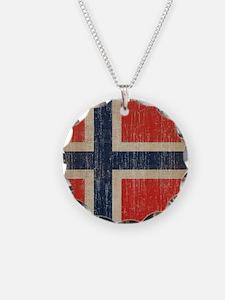 Vintage Norway Flag Necklace