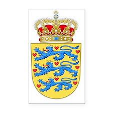 Denmark Coat Of Arms Rectangle Car Magnet
