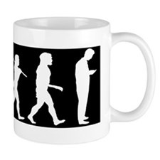 evolution man texting-cp2 Mug
