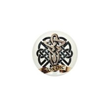 viking knot tribal celtic sword axe Mini Button