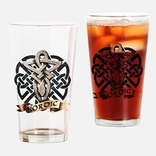 viking knot tribal celtic sword axe Drinking Glass