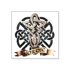 """viking knot tribal celtic s Square Sticker 3"""" x 3"""""""