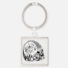 Microbiology caricature, 19th cent Square Keychain