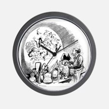 Microbiology caricature, 19th century Wall Clock