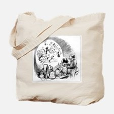 Microbiology caricature, 19th century Tote Bag