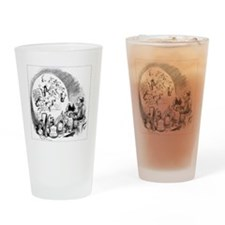 Microbiology caricature, 19th centu Drinking Glass