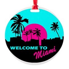 Welcome to Miami Ornament