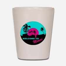 Welcome to Miami Shot Glass