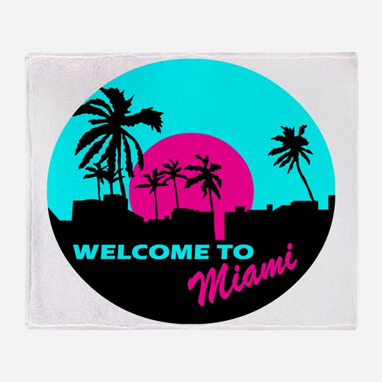 Welcome to Miami Throw Blanket