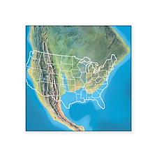 """North America, Late Cretace Square Sticker 3"""" x 3"""""""