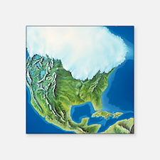"""North American glaciation Square Sticker 3"""" x 3"""""""