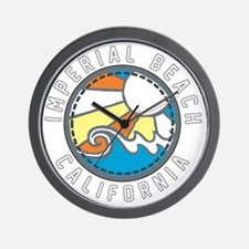 Imperial Beach Wave Badge Wall Clock