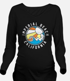Imperial Beach Wave  Long Sleeve Maternity T-Shirt