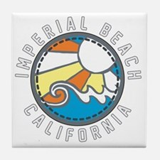 Imperial Beach Wave Badge Tile Coaster