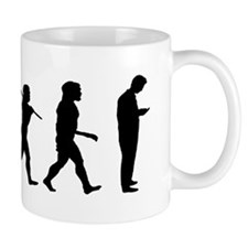 evolution man texting-cp1 Mug