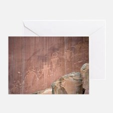 Native American Petroglyphs, Utah Greeting Card