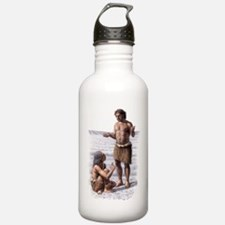Neanderthal woman and  Water Bottle