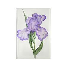 The Purple Iris Rectangle Magnet