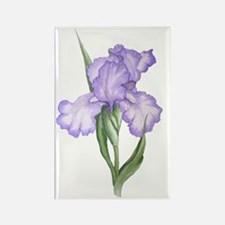 The Purple Iris Rectangle Magnet