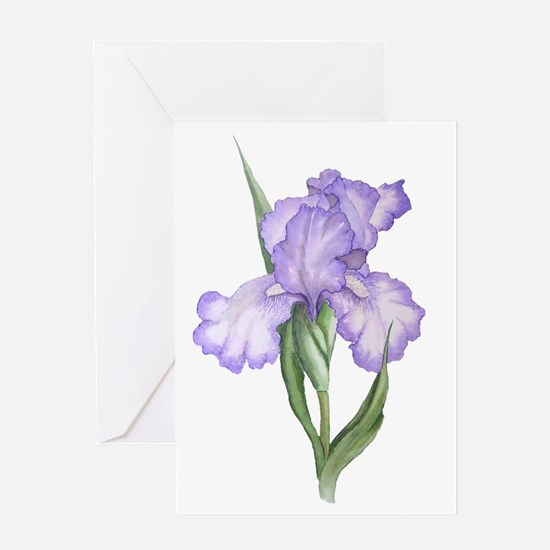 The Purple Iris Greeting Card