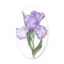 The Purple Iris Oval Car Magnet
