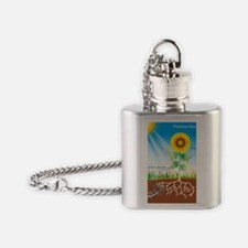Photosynthesis, illustration Flask Necklace