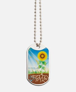 Photosynthesis, illustration Dog Tags