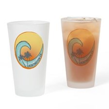 Huntington Beach Sunset Crest Drinking Glass