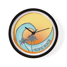 Pacific Beach Sunset Crest Wall Clock