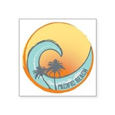 "Pacific Beach Sunset Crest Square Sticker 3"" x 3"""