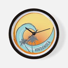 Windansea Sunset Crest Wall Clock