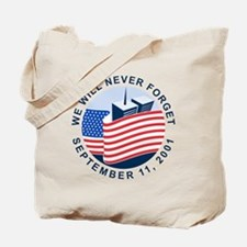 9/11 We will never forget Tote Bag