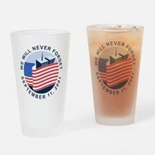 9/11 We will never forget Drinking Glass