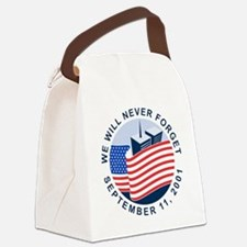 9/11 We will never forget Canvas Lunch Bag