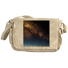 Milky way and observatories, Hawaii Messenger Bag
