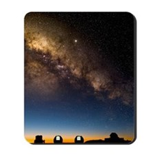 Milky way and observatories, Hawaii Mousepad