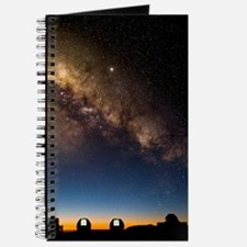 Milky way and observatories, Hawaii Journal