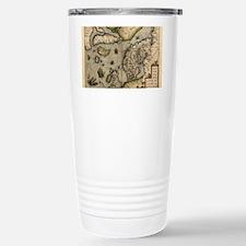 Ortelius's map of Northern Euro Travel Mug