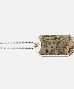 Ortelius's map of Northern Europe, 1570 Dog Tags