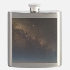 Milky way and observatories, Hawaii Flask