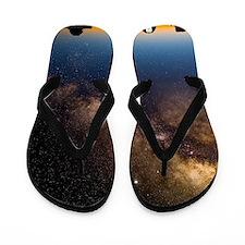 Milky way and observatories, Hawaii Flip Flops