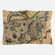 Ortelius's map of Northern Europe, 157 Pillow Case