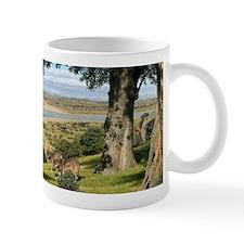 Neanderthal landscape, artwork Mug