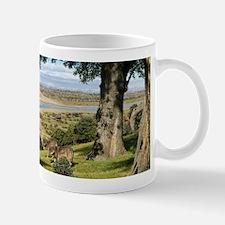 Neanderthal landscape, artwork Small Small Mug